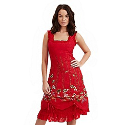 Joe Browns - Red latin spirit dress