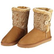 Tan cosy knit boots