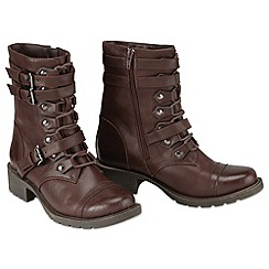 Joe Browns - Dark brown must have worker boots