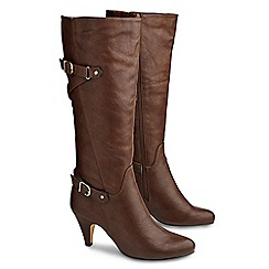 Joe Browns - Chocolate ultimate buckle heel boots