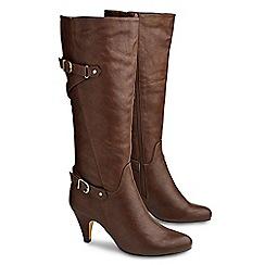 Joe Browns - Chocolate ultimate buckle heel boots