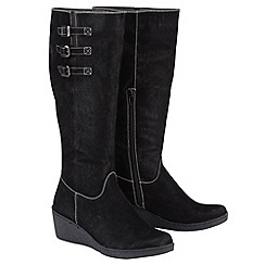 Joe Browns - Black essential buckle wedge boots