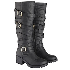 Joe Browns - Black funky multi strap boots