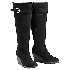 Joe Browns - Black super suede riding boots