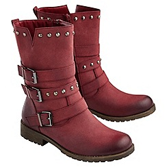 Joe Browns - Red funky studded biker boots