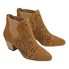 Joe Browns - Tan real suede western boots