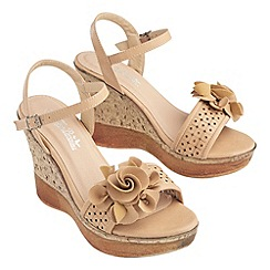 Joe Browns - Natural gorgeous corsage summer wedges
