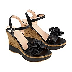 Joe Browns - Black gorgeous corsage summer wedges