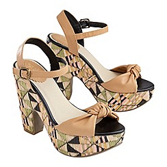 Joe Browns - Multi coloured irresistible raffia heels