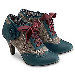 Joe Browns - Dark turquoise amazing corsage shoe boots