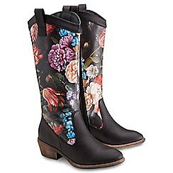 Joe Browns - Multi coloured amazing floral cowboy boots