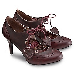 Joe Browns - Dark red vintage brogue heart shoes