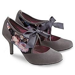 Joe Browns - Grey vintage velvet ribbon shoes