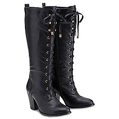 Joe Browns - Black lace up tall boots