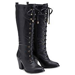 Joe Browns - Black lace up tall boots