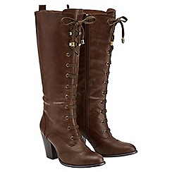 Joe Browns - Brown lace up tall boots