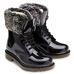 Joe Browns - Black faux fur trim boots