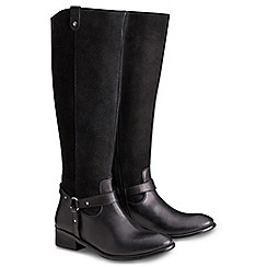Joe Browns - Black leather and suede riding boots