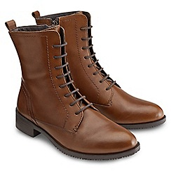 Joe Browns - Dark tan victorian lace up ankle boots