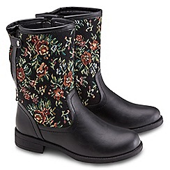 Joe Browns - Multi coloured funky tapestry boots