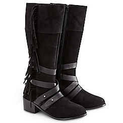 Joe Browns - Black suede fringed boots