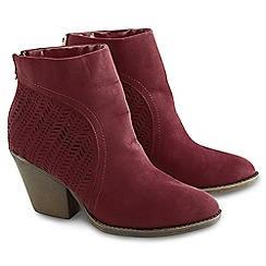 Joe Browns - Red micro suede ankle boots