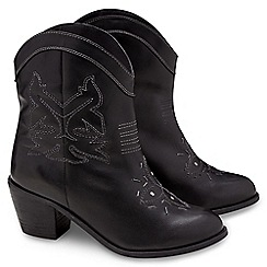Joe Browns - Black stitch detail cowboy boots
