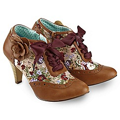 Joe Browns - Tan quirky ribbon shoe boots