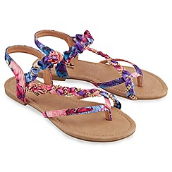 Joe Browns - Multi coloured mardi gras diamante sandals