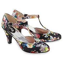 Joe Browns - Multi coloured pretty vintage t-bar shoes