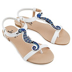 Joe Browns - White fabulous seahorse sandals