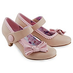 Joe Browns - Pale pink bow mary jane shoes