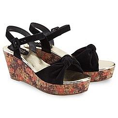 Joe Browns - Black laid back wedge sandals