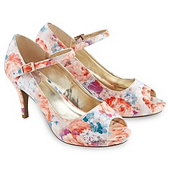 Joe Browns - Multi coloured romantic floral peeptoe shoes