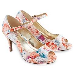 Joe Browns - Multi coloured romantic floral peeptoe shoes