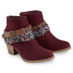 Joe Browns - Dark red route 66 boots