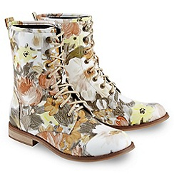 Joe Browns - Multi coloured fun and funky floral boots
