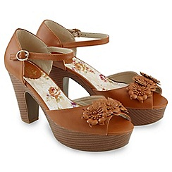 Joe Browns - Tan lazy days corsage sandals