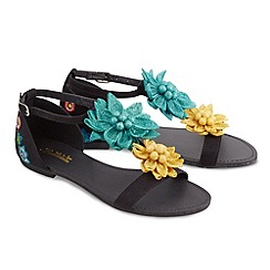 Joe Browns - Black long island raffia sandals