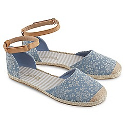 Joe Browns - Blue denim funky espadrilles