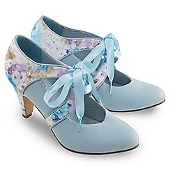 Joe Browns - Pale blue it must be love ribbon shoes