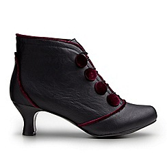 Joe Browns - Black fit for a queen ankle boots