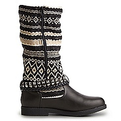 Joe Browns - Dark grey funky aztec biker boots