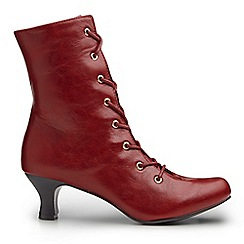 Joe Browns - Red fabulous lace up ankle boots