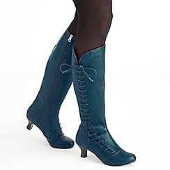 Joe Browns - Dark turquoise remarkable side lace boots