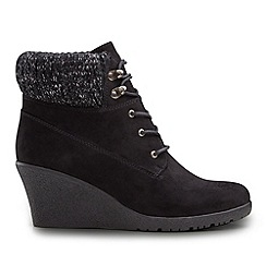Joe Browns - Black cosy and casual wedge boots