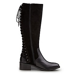 Joe Browns - Black stylish lace back riding boots