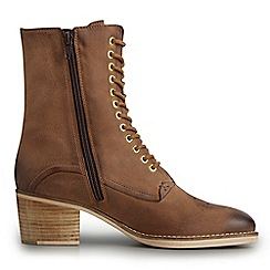 Joe Browns - Tan distressed leather lace up boots