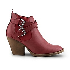 Joe Browns - Red very versatile buckle boots