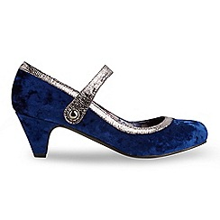 Joe Browns - Navy gatsby velvet shoes